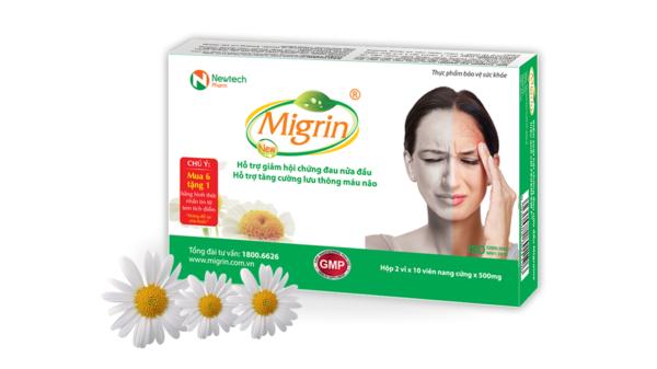Migrin New - giải pháp điều trị đau đầu hoa mắt chóng mặt buồn nôn hiệu quả